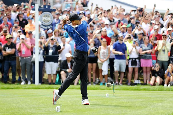 Brooks Koepka USA 1st Tee Final Round USPGA Bethpage 2019