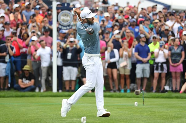 Dustin Johnson USA 1st Tee Final Round USPGA Bethpage 2019