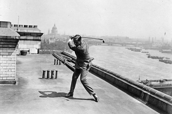 Walter Hagen USA Golfer Savoy Hotel Roof London 1922