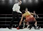 Barry McGuigan Northern Ireland knocks down Eusebio Pedroza London 1985 Mounts