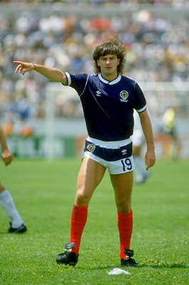 Charlie Nicholas Scotland v Uruguay World Cup Finals Mexico 1986