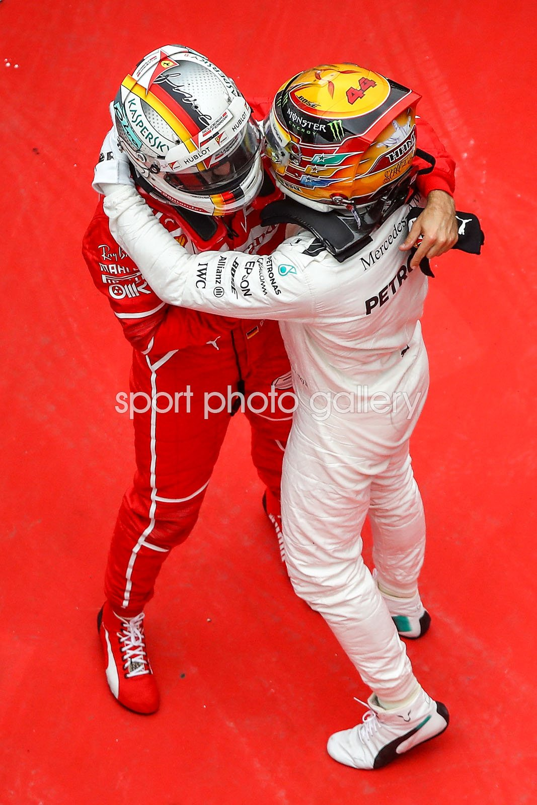 Winner Lewis Hamilton & 2nd Place Sebastian Vettel China GP 2017