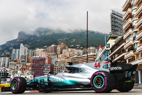 Lewis Hamilton Great Britain & Mercedes Monaco Grand Prix 2017