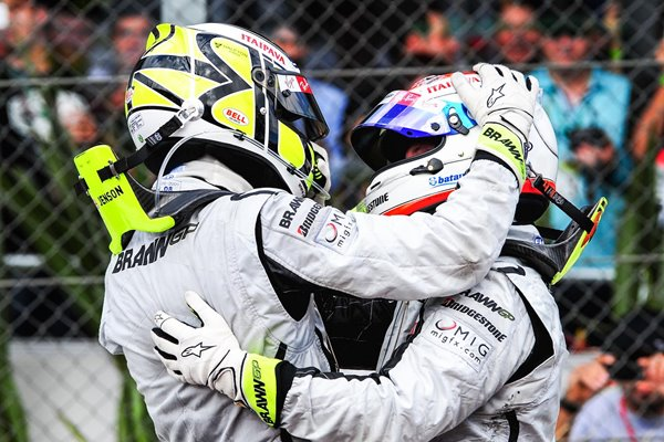 Jenson Button & Rubens Barrichello Brawn GP Brazilian GP 2009