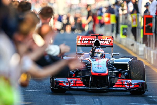 Jenson Button Great Britain & McLaren wins Australian F1 GP 2012