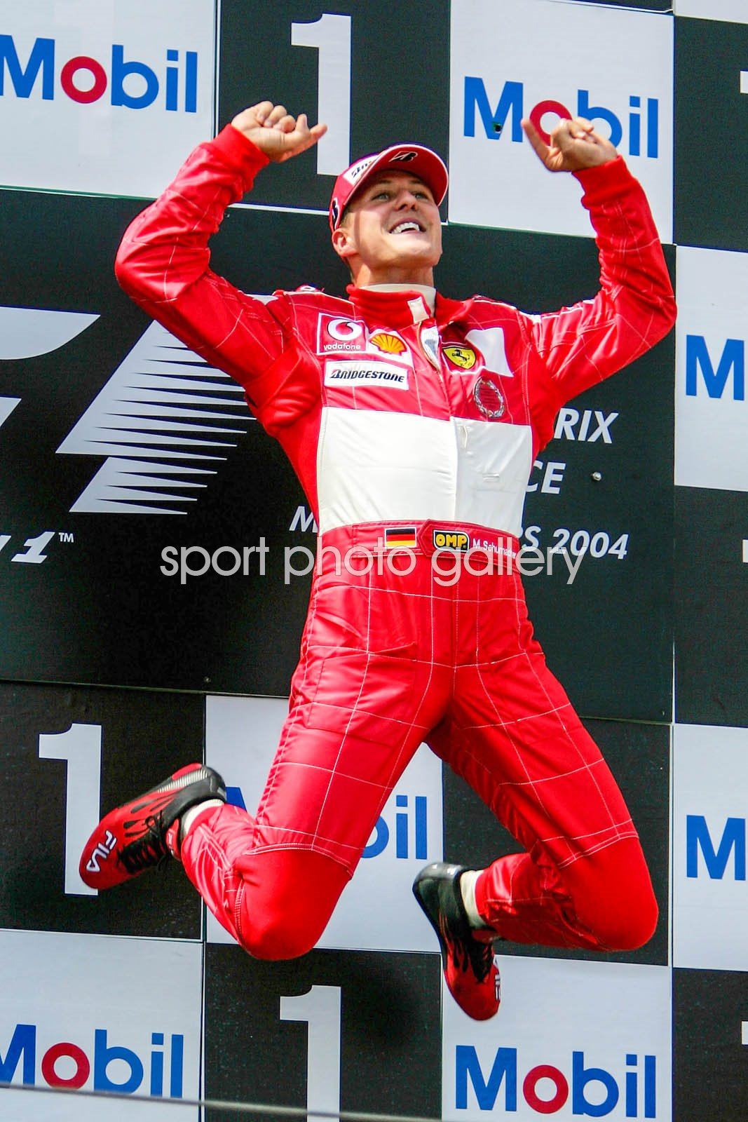 Michael Schumacher Germany & Ferrari wins French F1 GP 2004
