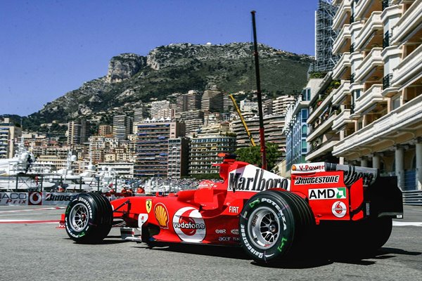 Michael Schumacher Germany & Ferrari Monaco F1 GP 2005