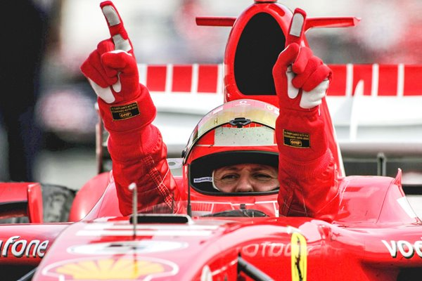 Michael Schumacher wins German F1 GP Hockenheim 2006