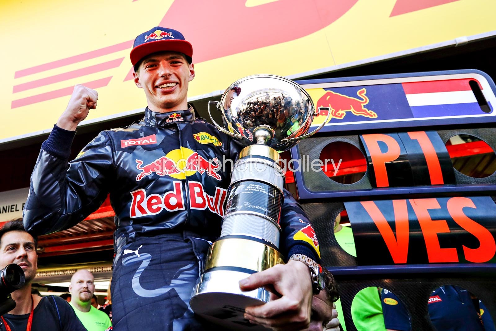 Max Verstappen Netherlands & Red Bull wins Spanish GP 2016