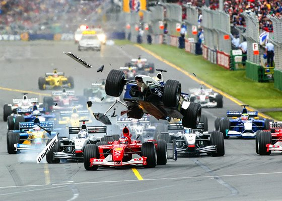 Ralf Schumacher Crash Australian Formula One GP Melbourne 2002