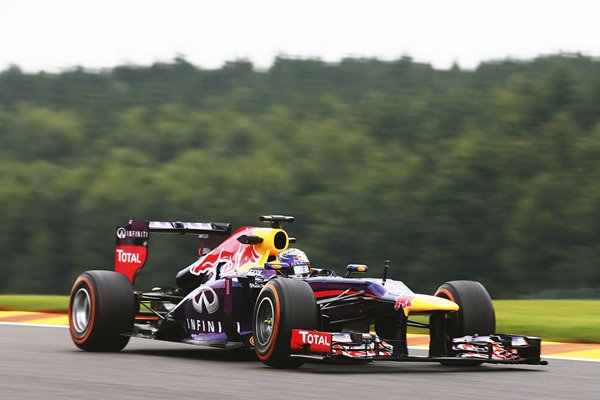 Sebastian Vettel Red Bull Grand Prix of Belgium 2013