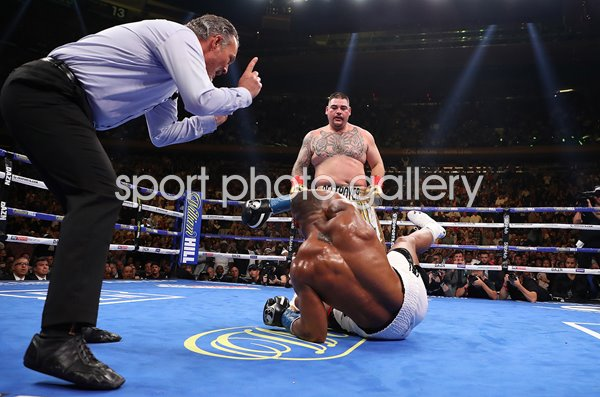 Andy Ruiz Jr. knock down Anthony Joshua New York 2019