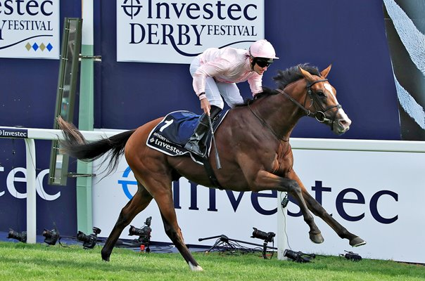 Seamie Heffernan riding Anthony Van Dyck win Epsom Derby 2019