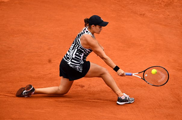Ashleigh Barty Australia backhand French Open Champion Paris 2019
