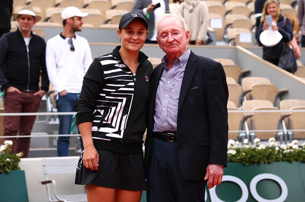 Australians Ashleigh Barty & Rod Laver 2019 French Open