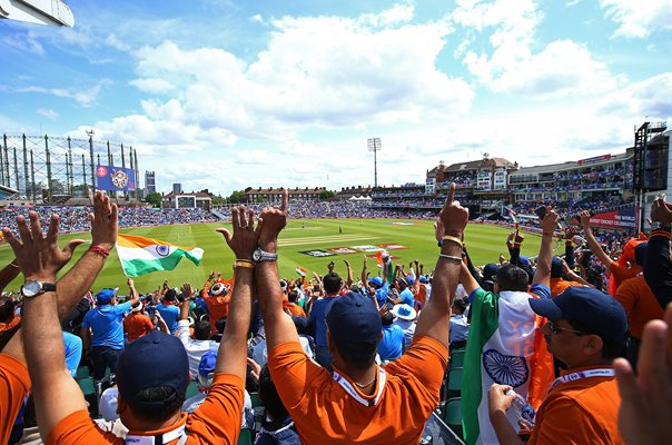 India fans celebrate v Australia The Oval London World Cup 2019