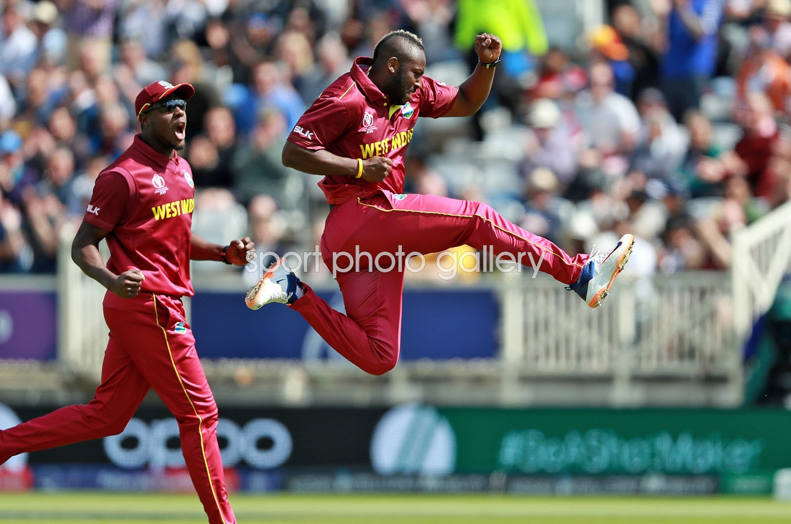 Andre Russell West Indies celebrates v Australia World Cup 2019