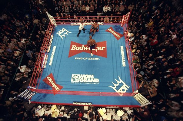 Mike Tyson v Evander Holyfield Overhead Ring View Las Vegas 1996