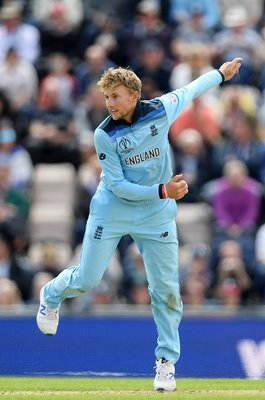 Joe Root England bowls v West Indies Southampton World Cup 2019