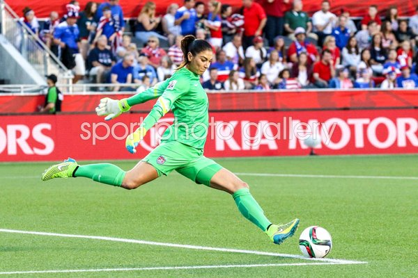 Hope Solo USA Goal Kick v China World Cup 2015