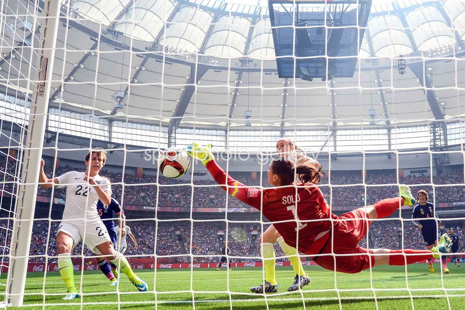 Hope Solo USA Save v Japan World Cup Final Vancouver 2015