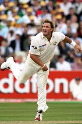 Shane Warne Australia batting 2nd Ashes Test Edgbaston 2005