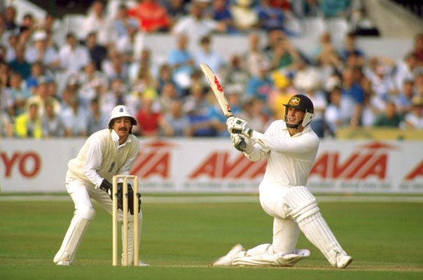 Mark Taylor Australia & Jack Russell England Trent Bridge Ashes 1989