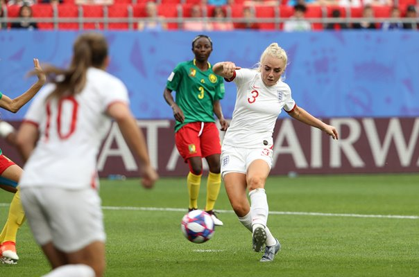Alex Greenwood England scores v Cameroon World Cup 2019