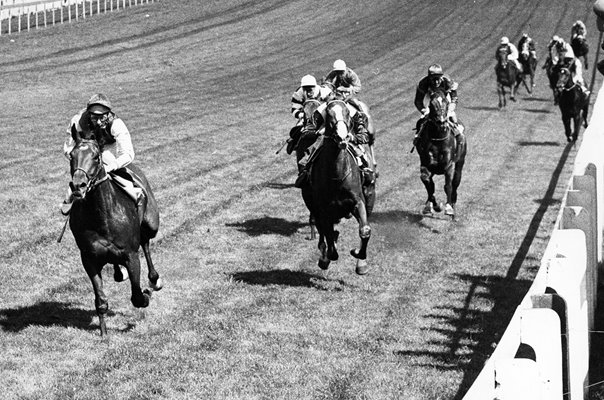 Lester Piggott on Nijinsky wins 1970 Epsom Derby