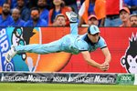Chris Woakes Catch England v India Edgbaston World Cup 2019 Prints