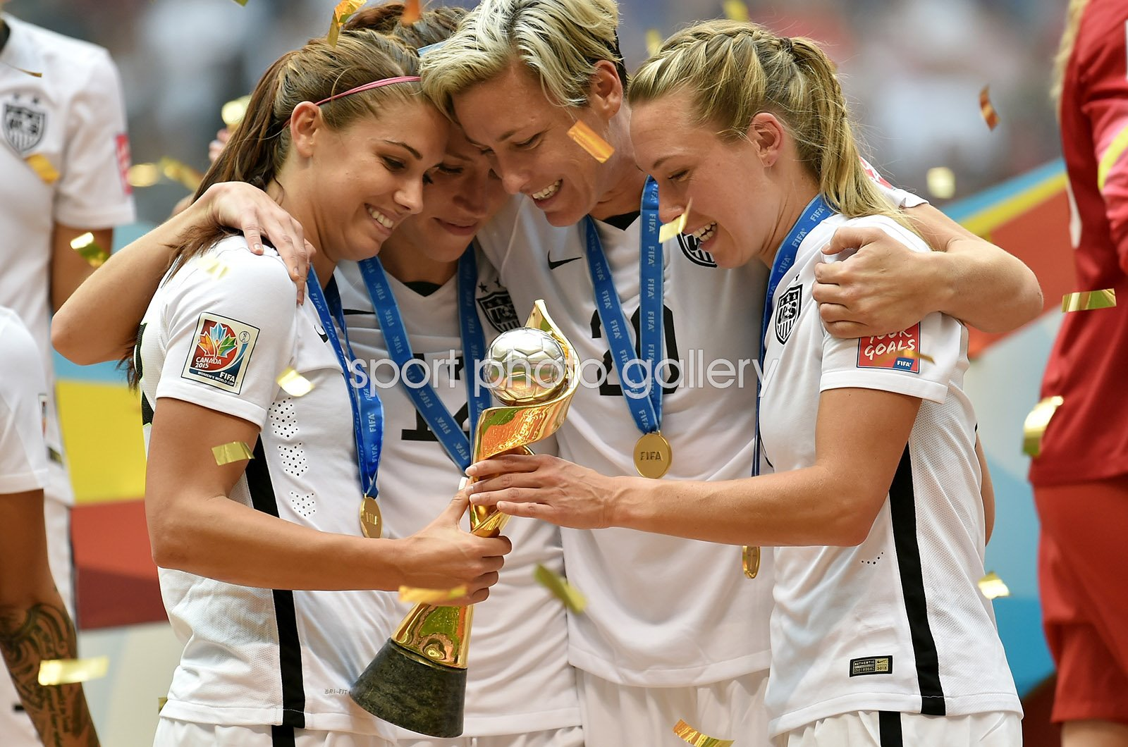 Alex Morgan, Lauren Holiday, Abby Wambach & Whitney Engen USA 2015
