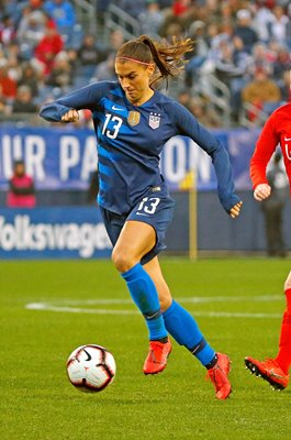 Alex Morgan USA v England SheBelieves Cup Nashville 2019