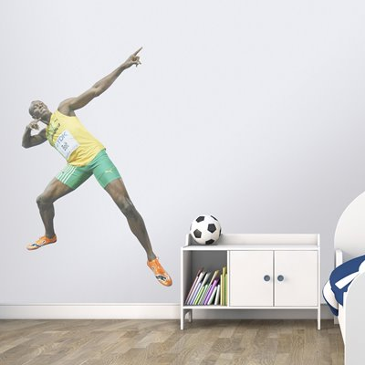 TRADEMARK USAIN BOLT CELEBRATION BERLIN 2009 wall sticker