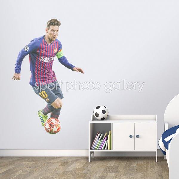 Lionel Messi Barcelona v Lyon Champions League Nou Camp 2019 Wall Sticker