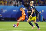 Jackie Groenen Netherlands scores v Sweden Semi Final World Cup 2019 Acrylic