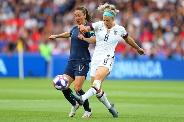 Julie Ertz v Gaetane Thiney USA v France World Cup 2019