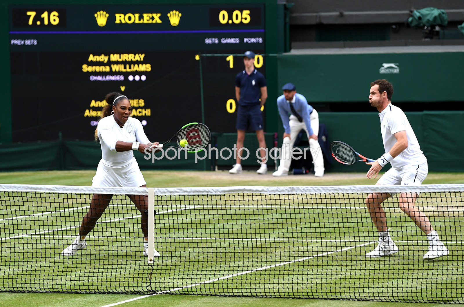 Andy Murray GB & Serena Williams USA Mixed Doubles Wimbledon 2019