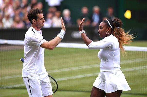 Andy Murray Great Britain & Serena Williams Wimbledon 2019