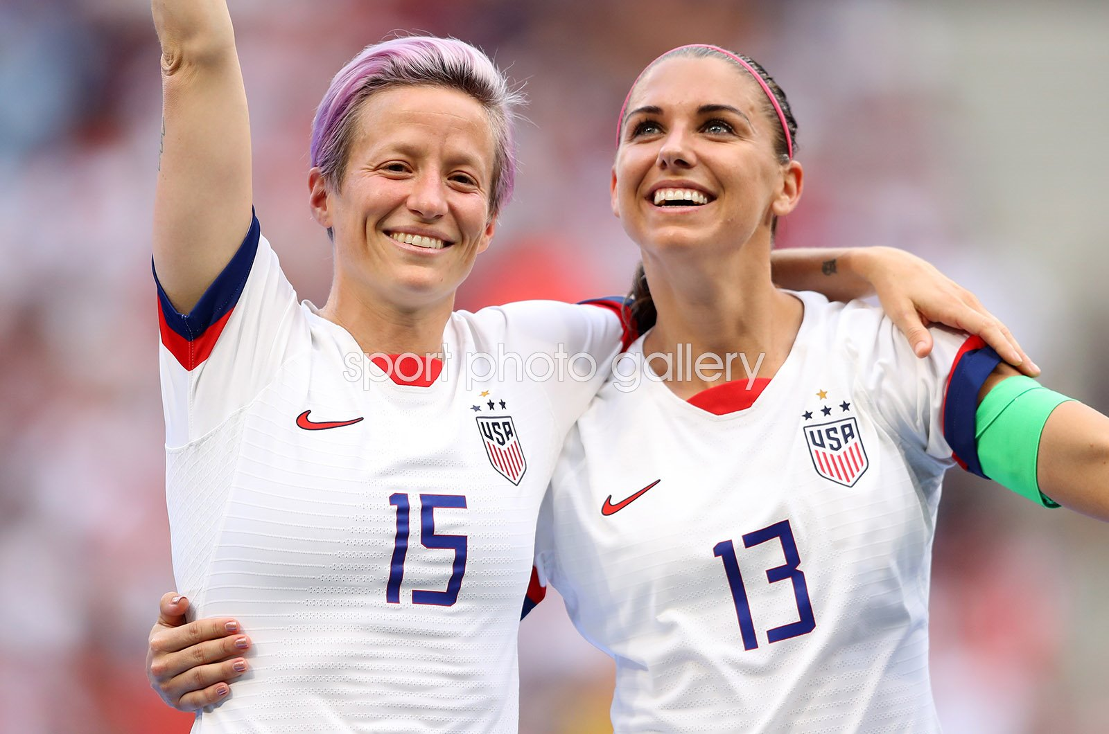 Megan Rapinoe & Alex Morgan USA World Cup Winners 2019