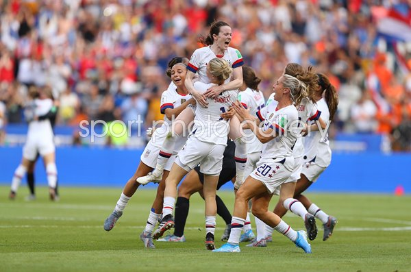 Rose Lavelle USA celebrates World Cup Final Goal Lyon 2019