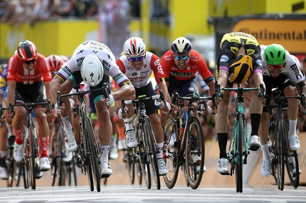 Mike Teunissen out-sprints Peter Sagan Stage 1 Tour de France 2019