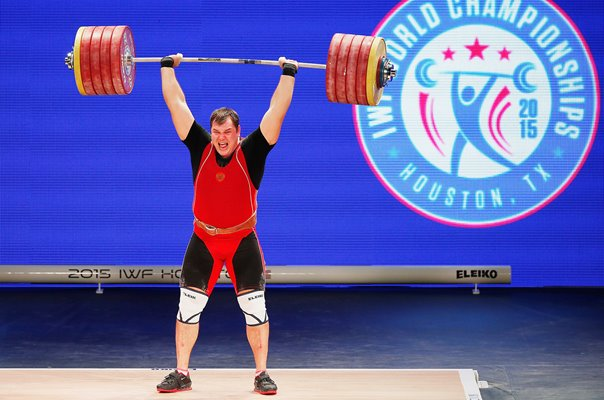 Aleksei Lovchev Russia Weightlifting World Championships Houston 2015