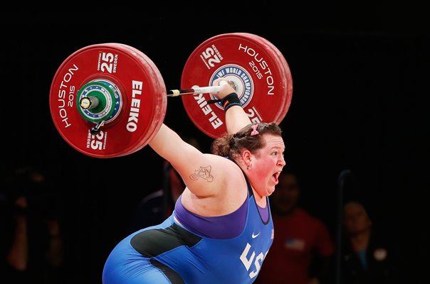Sarah Robles USA Weightlifting World Championships Houston 2015