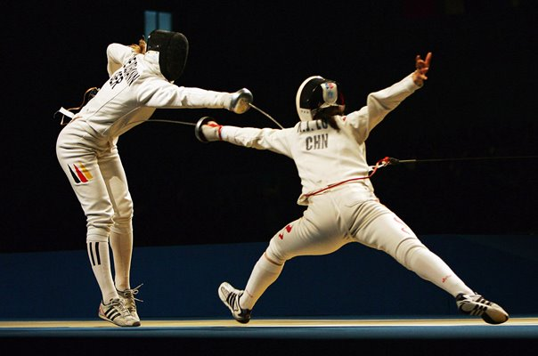 Britta Heidemann Germany v Luo Xiaojuan China Fencing 2008