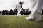 Lawn Bowls action in Maidenhead England Prints