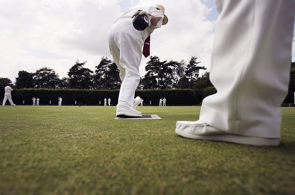 Lawn Bowls action in Maidenhead England