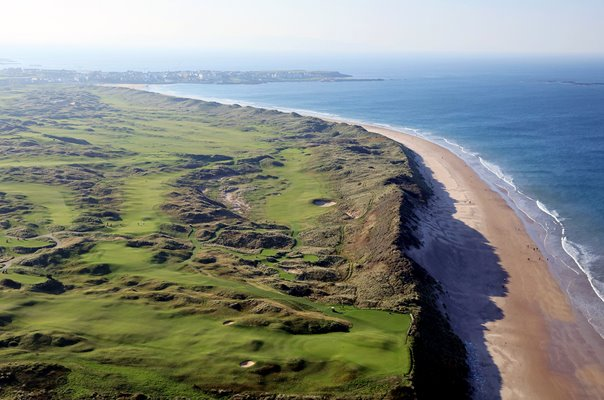 Aerial Views of Royal Portrush Golf Club Holes 6, 7, 8 & 10