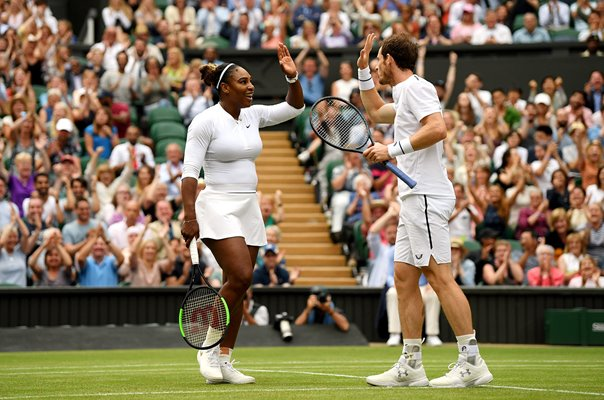 Serena Williams & Andy Murray Mixed Doubles win Wimbledon 2019