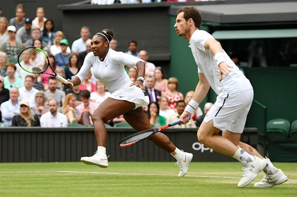 Serena Williams & Andy Murray Mixed Doubles Wimbledon Tennis 2019