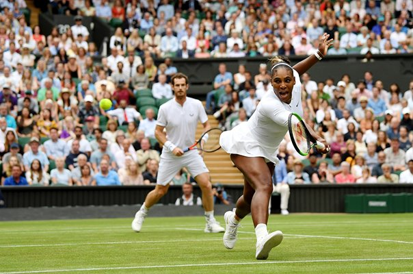 Serena Williams & Andy Murray Centre Court Wimbledon 2019